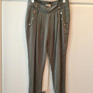 Pants - Military green color pants.